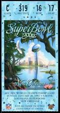 1997 Super Bowl XXXI Football Ticket Stub