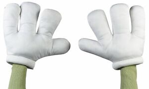 Child Adult Cartoon Hands Mickey Minnie Gloves White Mouse Costume Accessory