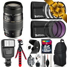 Tamron 70-300mm Lens for Canon + Flash +  Tripod & More - 32GB Accessory Kit