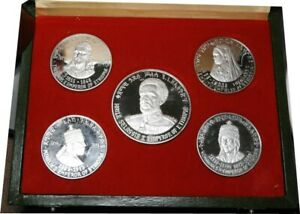elf Ethiopia 5 pc Proof Set 1972 Emperors and Empress Silver