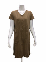 Linea by Louis Dell'Olio Short Sleeves Knit Dress with Pockets Small Size