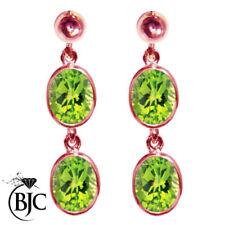 Pendientes de joyería verde natural