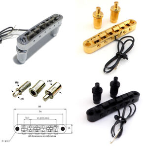Tune-O-Matic Piezo Guitar bridge Pickup, in Chrome, Black, or Gold