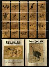 MICRONESIA, SCOTT # 347-349,FULL SET OF STAMPS & MINI SHEETS DINOSAURS EARTH DAY