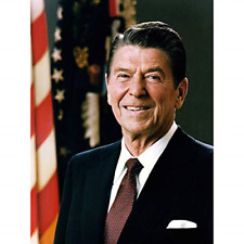 More details for official portrait us president ronald reagan photo large wall art poster print