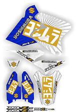 2017 Exhaust Graphic Kit DRZ400SM Drz400s drz 400sm drz400 Shrouds Blue Gold