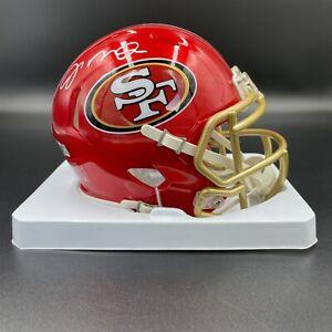 Joe Montana Signed Autographed SF 49ers FLASH Mini Helmet Fanatics Authentic NEW