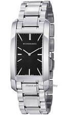 New Burberry Black Check Dial Silver Tone Bracelet Ladies Unisex Watch BU9401