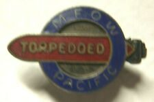WW2 USMM Torpedoed Pin - M.F.O.W. Pacific - SB