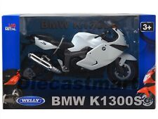 BMW K1300S 1:10 DIECAST MOTORCYCLE MODEL BY WELLY 62805W WHITE