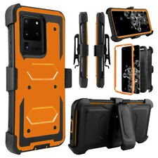 For Samsung Galaxy S20 Plus Ultra 5G Shockproof Armor Clip Case+Screen Protector