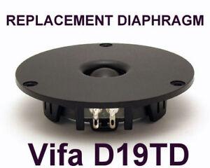 Abfall Diaphragma Für Hochtöner Vifa D19TD-05-08 - 8 Ohm
