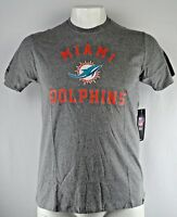 Miami Dolphins Men's 47 Brand NFL Short Sleeve T-Shirt Gray S L XXL
