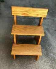 WOOD STEPS BED PET TWO STEP PLANT STAND
