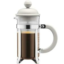Bodum Caffettiera French Press Coffee Maker, White - 0.35 Litres, 3 Cup Capacity