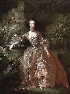 Madame de Pompadour by Francois Boucher Giclee Fine Art Canvas Print