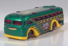 Hot Wheels Surfin School Bus Die Cast Scale Model Green & Gold Surf School