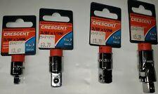 "Crescent 3/8"" Socket Adaptors and 3/8"" Universal Swivel Joint, 4 Pieces"