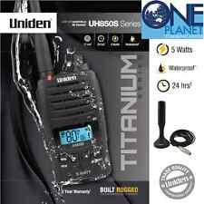 Uniden UH850S 5 Watt UHF CB Radio + AT-820 Magnetic antenna + Leather Case