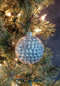 Christmas Ornament Glass Golf Ball Raz Imports 2.5 inch