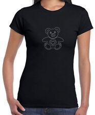 Strass-hüftlange Damen-T-Shirts ohne Muster