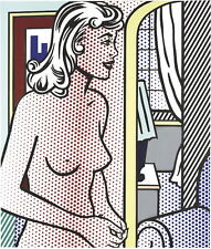Roy Lichtenstein Nude In Apartment Giclee Canvas Print Paintings Poster Reproduc