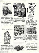 1956 ADVERT Marx Toy Electric Combat Tanks Chris Craft Wolverine Sunmarine K&O