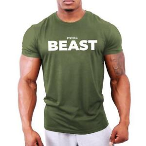 Beast - Men's Bodybuilding T-Shirt | Gym Training Vest Top by GYMTIER