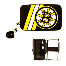NHL Boston Bruins Team Logo Wristlet Wallet, Detachable Strap, Holds Phone