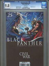 Black Panther #25 CGC 9.8 (2007) Civil War Highest Grade Michael Turner Cover