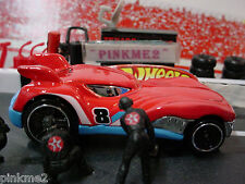 2013 TRIPLE TRACK TWISTER Design Ex HOWLIN' HEAT☆Red/Blue☆New loose☆hot wheels