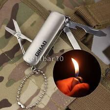 W/ Scissors Knife Bottle Opener Multifunction Butane Gas Cigar Cigarette Lighter