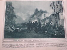 Photo article Australia army enters Bapaume France 1917 WW1