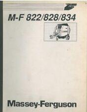 MASSEY FERGUSON 822 828 834 ROUND BALER OPERATORS MANUAL
