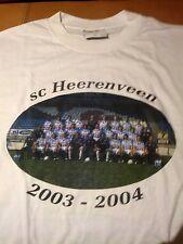 BNWT RARE SC Heerenveen Eredivisie Soccer 2003-2004 Team T-shirt with roster,XL