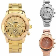 Stylish Geneva Ladies Women Girl Unisex Stainless Steel Quartz Wrist Watch