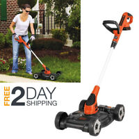 Walk Behind String Trimmer Lawn Mower Edger Cordless Combo Wheeled Push Battery