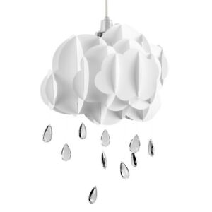 White Cloud Lampshade Modern Jewel Droplet Pendant Nursery / Bedroom LED Light