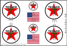 NEW PEEL AND STICK HO SCALE TEXACO OIL MODEL TANKER TRUCK DECALS THO101B