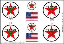 HO SCALE TEXACO OIL MODEL TANKER TRUCK DECALS THO101B