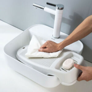 Plastic Washboard Laundry Board Hand Washer Shirts Cleaning Kids Clothes