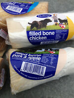 Hollings Filled Natural Bones Dog Treats 3 packs from £5.99