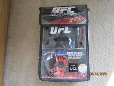 UFC TRAINING GLOVES MMA Mixed Martial Arts Open Palm L/XL BRAND NEW WITH CASE