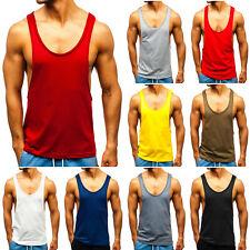 Tanktop Tee T-Shirt Muskelshirt Achselshirt Men Unifarben Herren BOLF 3C3 Basic