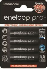 4 x Panasonic eneloop PRO AA 2500mAh BK-3HCDE/4BE Rechargeable batteries