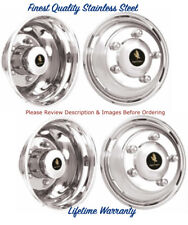 "16"" MITSUBISHI FUSO 5 LUG WHEEL SIMULATOR RIM LINERS, STAINLESS HUBCAP COVERS ©"