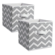 Storage Bin Fabric Cube Container Organizer Basket Drawer Home Box SET OF 2 New