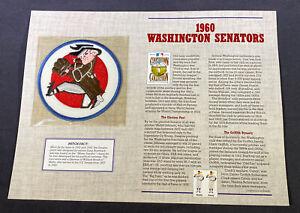 Willabee & Ward MLB Cooperstown Collection 1960 Washington Senators Patch