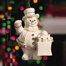 Lenox Snowman Ornament - China w/ Gold Accents-Very Collectible- New - Cute