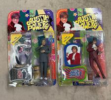 Vintage McFarlane Toys Austin Powers & Dr. Evil Action Figures 1999 Lot